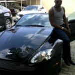 D'Banj and his Aston Martin Vantage