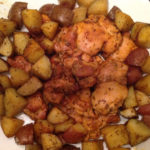 Finished product: Rosemary roasted chicken and potatoes