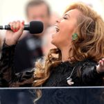 Beyonce singing the national anthem at the 2013 inauguration of President Barack Obama