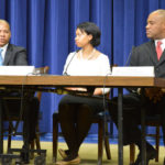 L-R: Damon Davis (Director for the Healthcare Initiative), Chiquita Brooks LaSure (Deputy Director, Consumer Information &amp; Insurance Oversight), and Anton Gunn (Director, Office of Internal Affairs