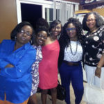L to R: Funmie, Seun [Funmie&#039;s sister], Solachi, Me, and Aunt Oma