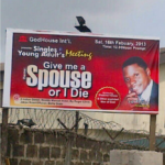 Church program: Give me a spouse or I die