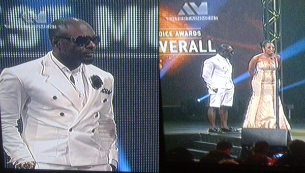 Jim Iyke in his short knicker suit