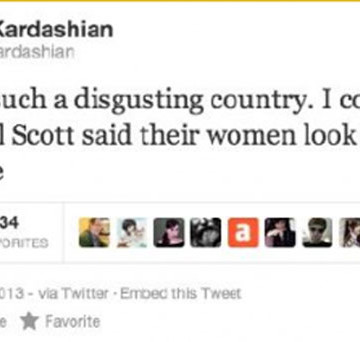 Did Kim Kardashian Tweet That Nigeria Is Disgusting???