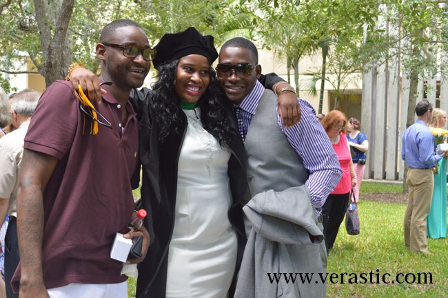 Uju and her brothers. Too much love.