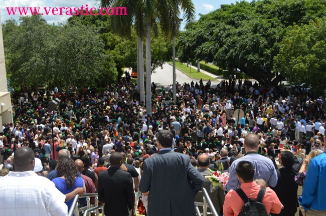The crowd at the University