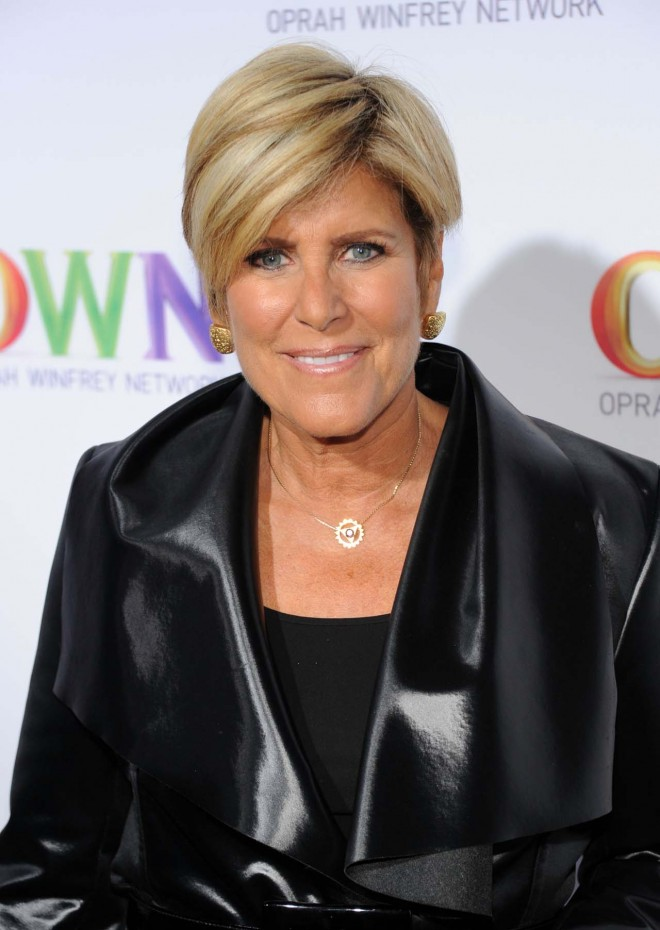 Suze Orman, you too? Somehow, in my head, Suze Orman is too frugal to be gay. It's okay if it doesn't make sense to you. It doesn't make sense to me either.