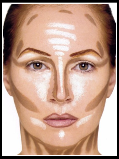 Areas to highlight & contour (source: Drugstore Princess)