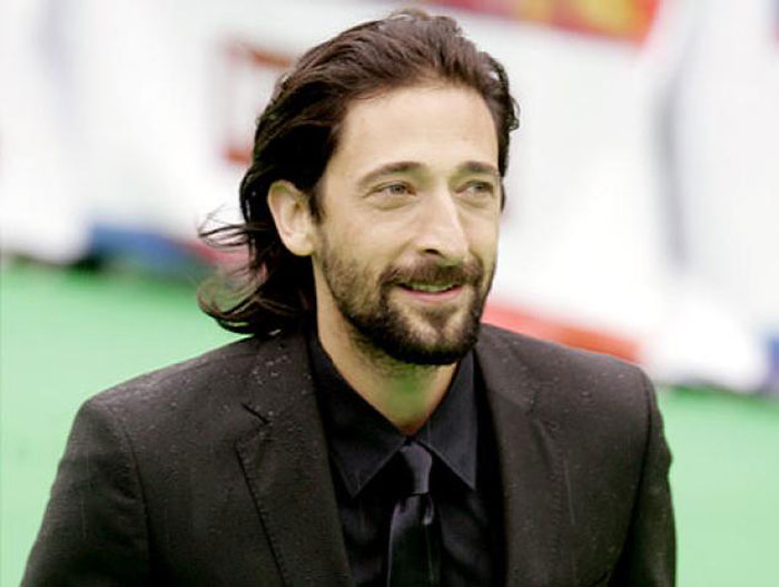 Adrien Brody: Don't like his face without hair. He has some kind of undercover sexiness