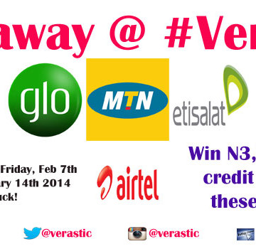 Giveaway: N3000 Worth Of Phone Credit [Nigeria ONLY]