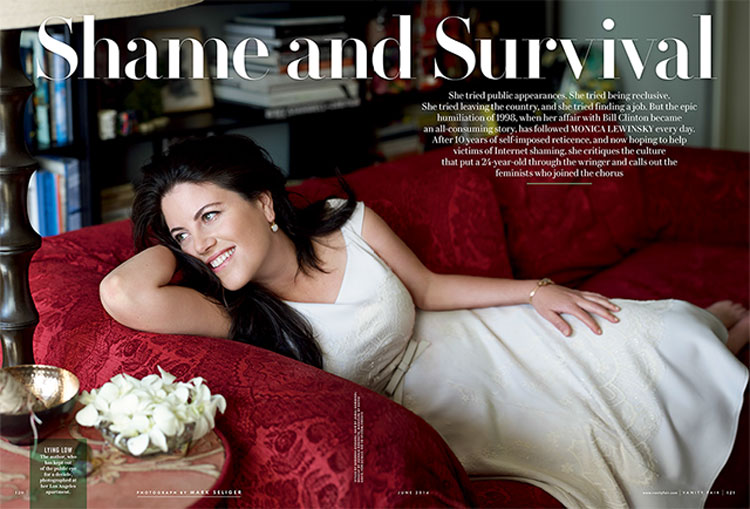 Monica Lewinsky in Vanity Fair.  Image source: Vanity Fair