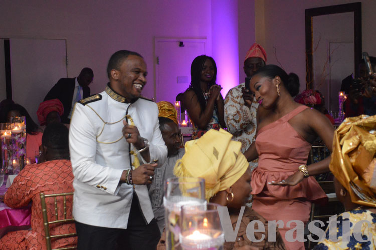 Igwe and his partner dancing in