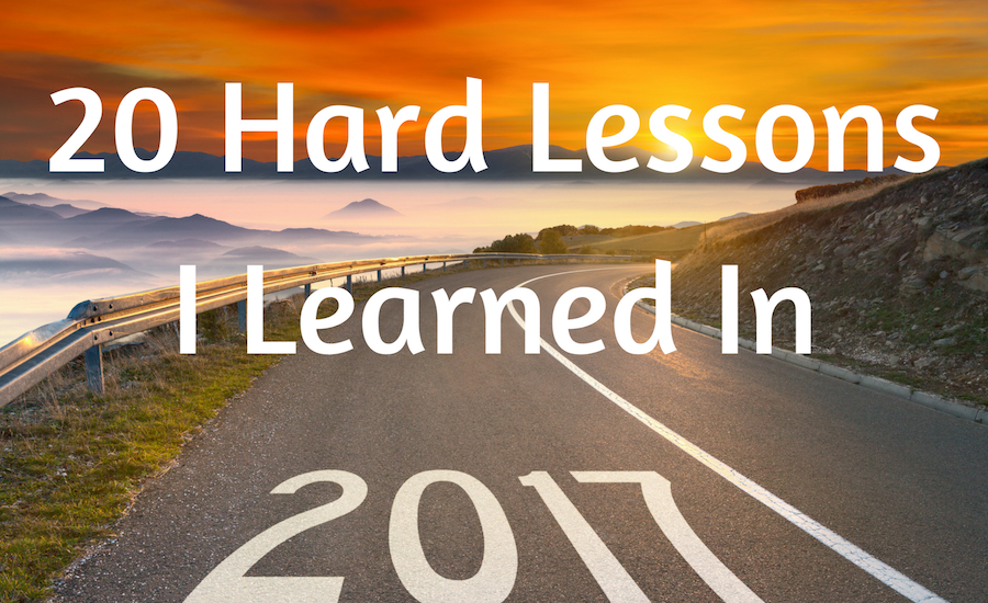 Lessons I learned in 2017