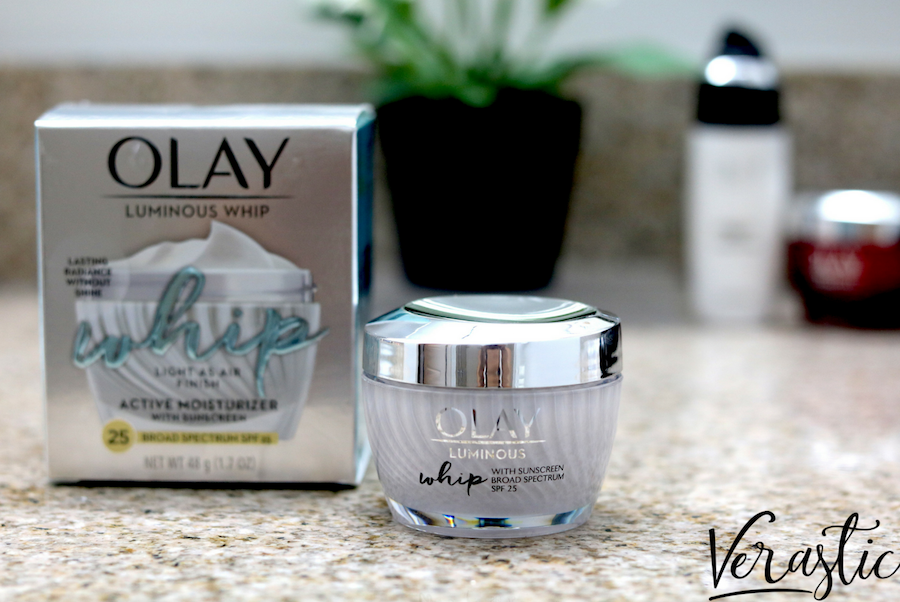 Olay Luminous Whip Face Moisturizer with SPF 25 + Verastic